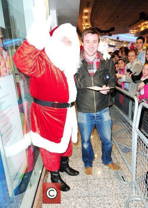 Coronation Street Graham Hawley meets Santa at the...
