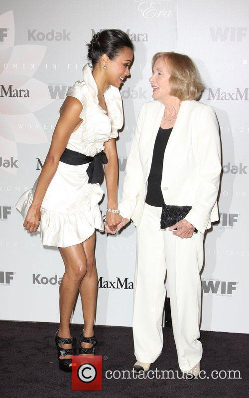 Zoe Saldana and Eva Marie Saint 7