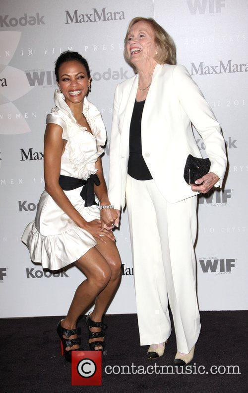 Zoe Saldana and Eva Marie Saint 3