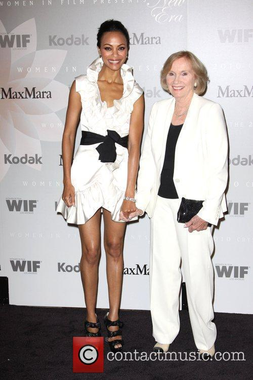 Zoe Saldana and Eva Saint Marie