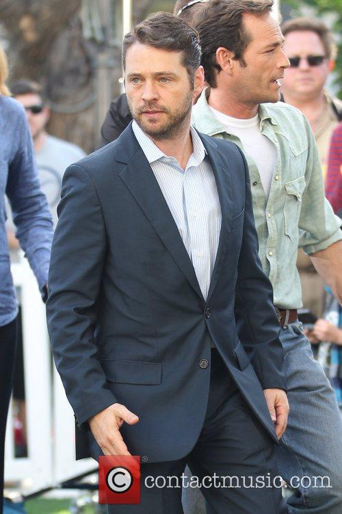Jason Priestley and Luke Perry at The Grove...