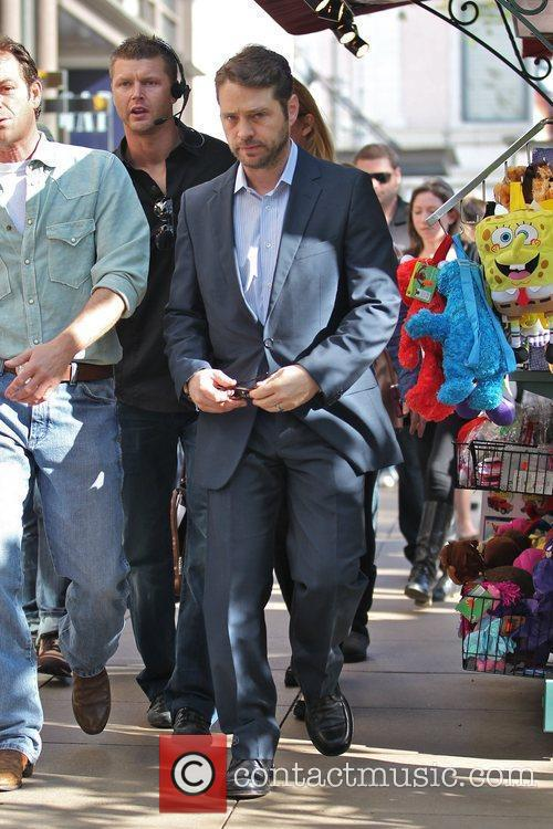 Jason Priestley arriving at The Grove for an...