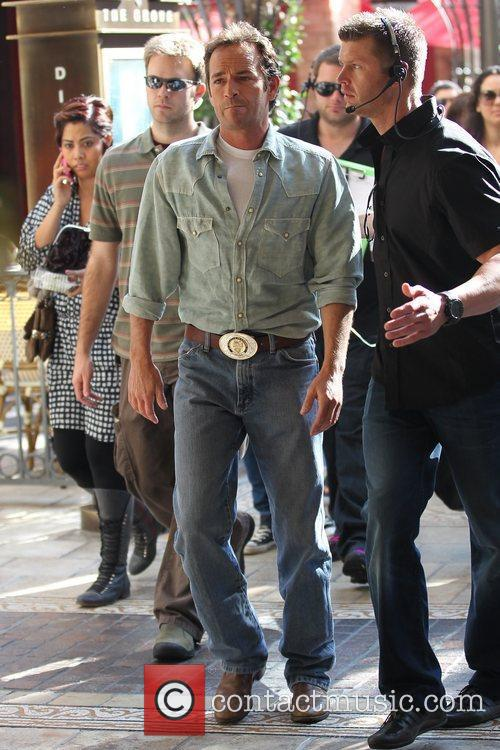 Luke Perry arriving at The Grove for an...
