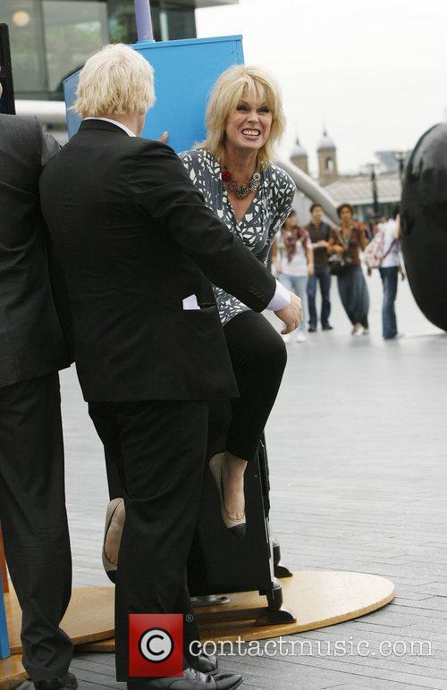 Joanna Lumley and Mayor of London Boris Johnson...