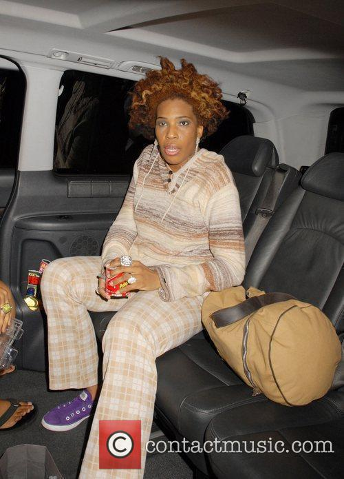 Macy Gray leaving mLeicester Square Theatre London, England