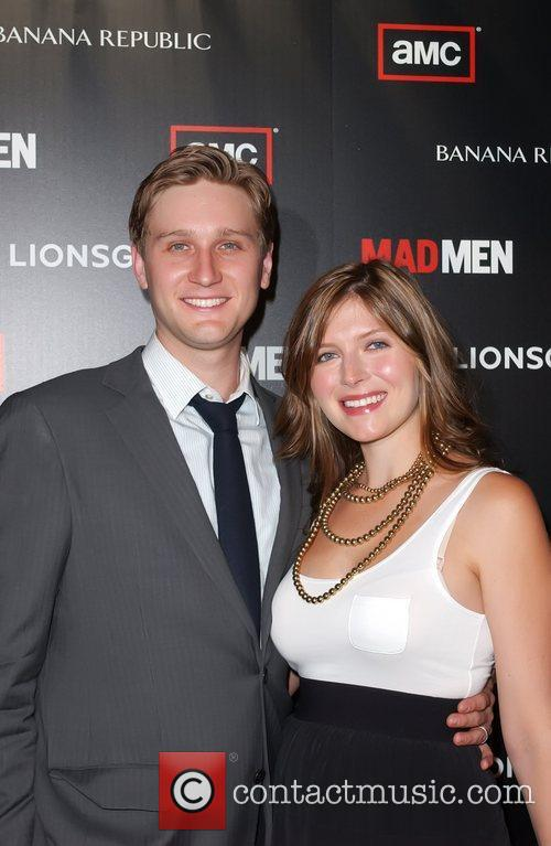 Aaron Staton and wife Connie Fletcher AMC's Mad...