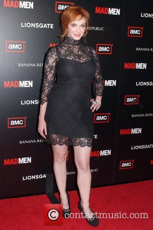 Christina Hendricks AMC's Mad Men Season 4 Premiere...