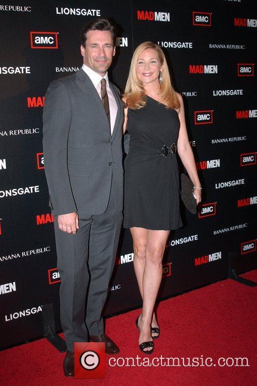 Jon Hamm and Jennifer Westfeldt AMC's Mad Men...