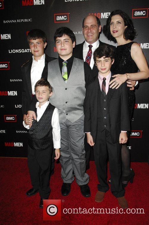 Matt Weiner and family  AMC's Mad Men...