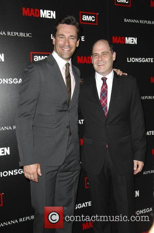 Matt Weiner and Jon Hamm  AMC's Mad...