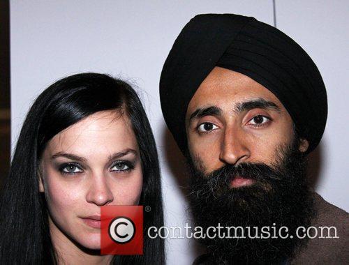 Leigh Lezark and Waris Aluwhalia attend the 2010...