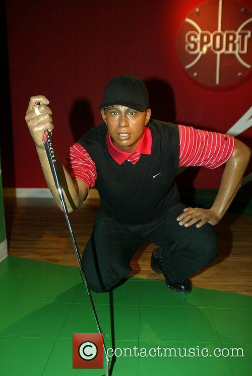 Tiger Woods waxwork at Madame Tussauds