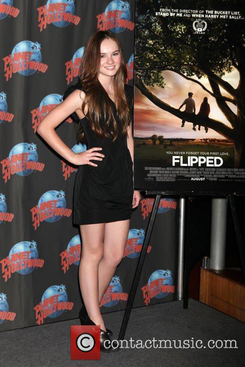 Promotes her new movie 'Flipped' with a memorabilia...