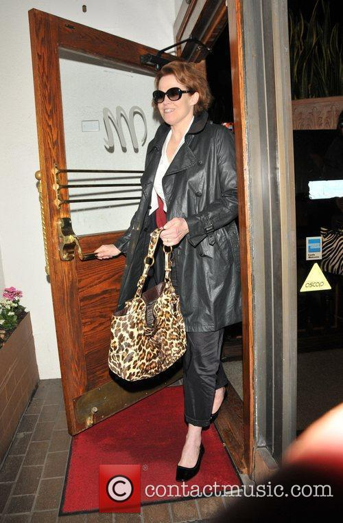 Sigourney Weaver leaving Madeo Restaurant in West Hollywood...
