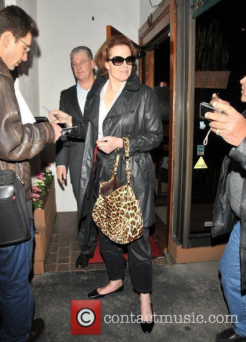 Leaving Madeo Restaurant in West Hollywood
