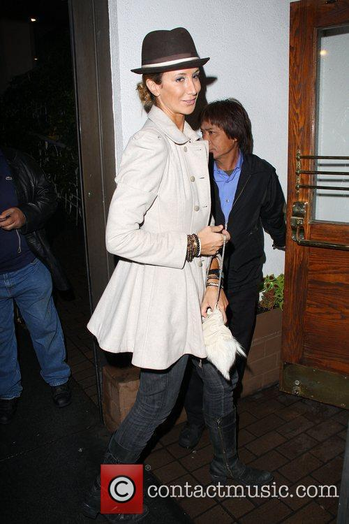 Lady Victoria Hervey arriving at Madeo restaurant Los...