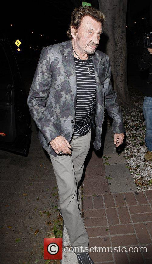 Johnny Hallyday  outside Madeo restaurant  Los...