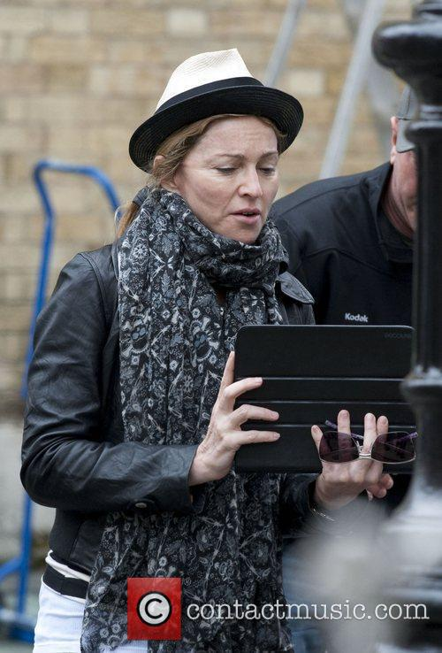Madonna takes a directing role on the set...