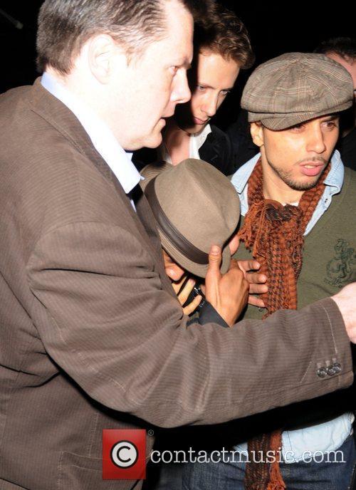Madonna and new boyfriend Brahim Rachiki,  leaving...