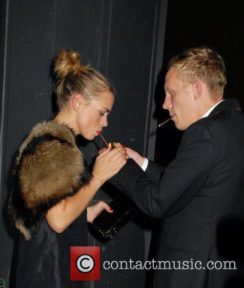 Billie Piper and her husband Laurence fox smoke...