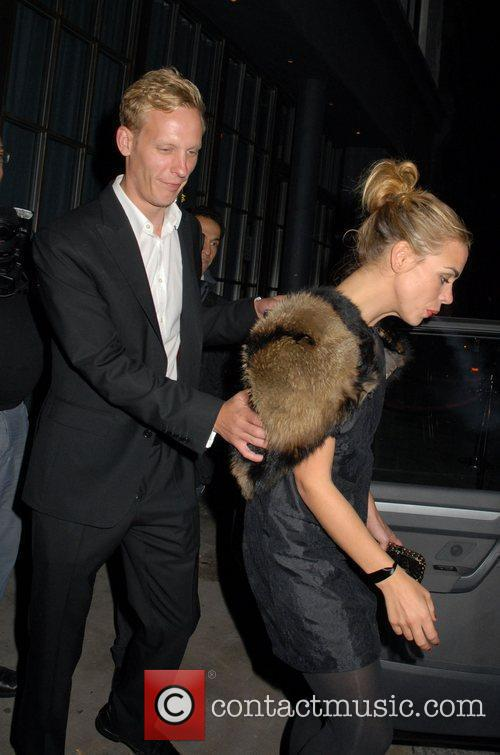 Billie Piper and Laurence Fox are seen leaving...