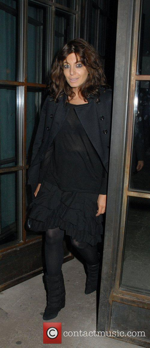 Claudia Winkleman is seen arriving at Shoreditch House...