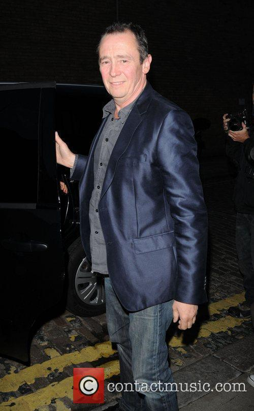 Comedian Paul Whitehouse is seen leaving Shoreditch House...