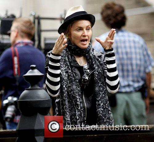 Madonna  Madonna is seen directing on the...