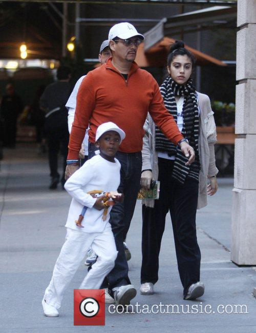 David and Lourdes Leon Madonna and her family...