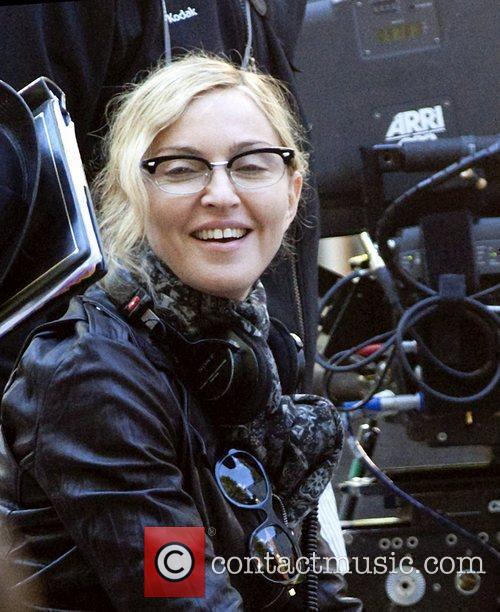 Madonna filming on location for her new movie...