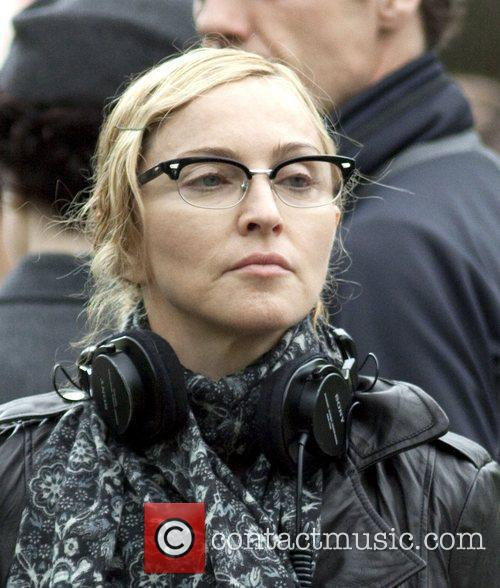 Filming on location for her new movie 'W.E.'...