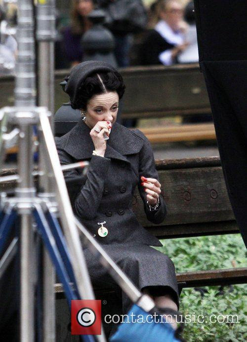 Andrea Riseborough filming on location for new movie...