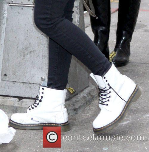 Lourdes Leon's white Dr. Martens boots Madonna's children...