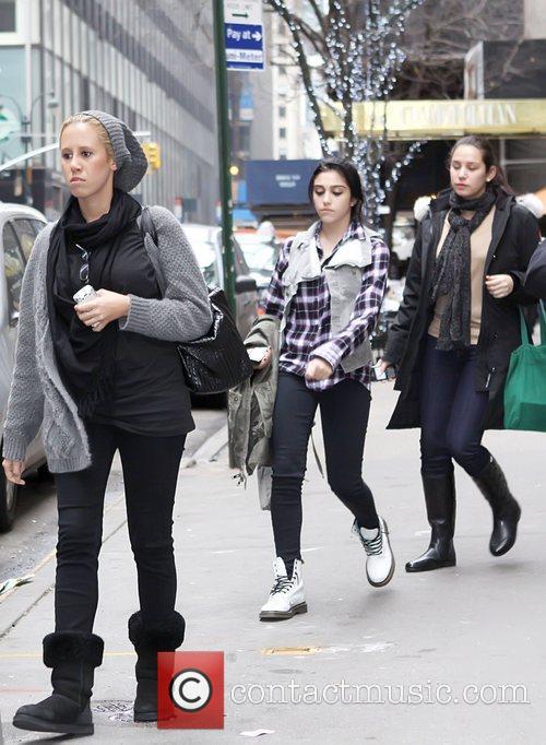Lourdes Leon Madonna's children leaving the Manhattan Kabbalah...
