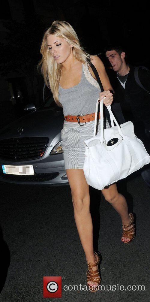 Mollie King of girl group The Saturdays arrives...