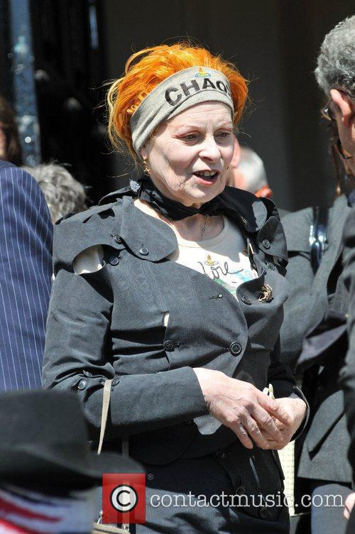 Fashion designer Vivienne Westwood leaving the Holy Trinity...