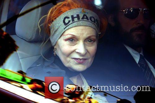 Fashion designer Vivienne Westwood takes part in a...