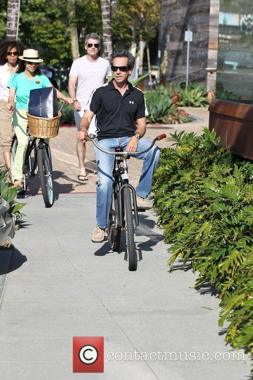 Brian Grazer out and about on his bicycle...