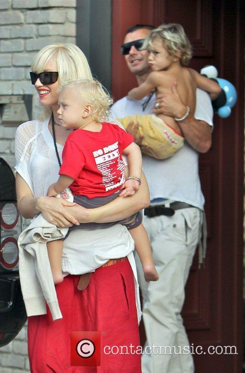 Singer Gwen Stefani and husband Gavin Rossdale with...