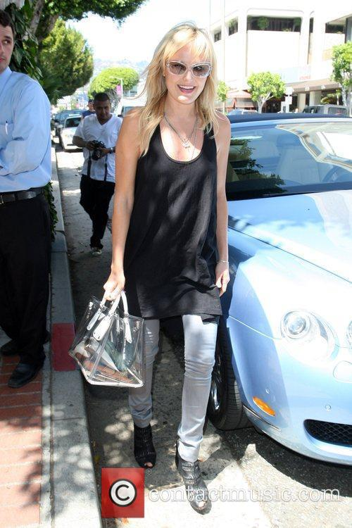 Malin Akerman  goes for lunch at the...