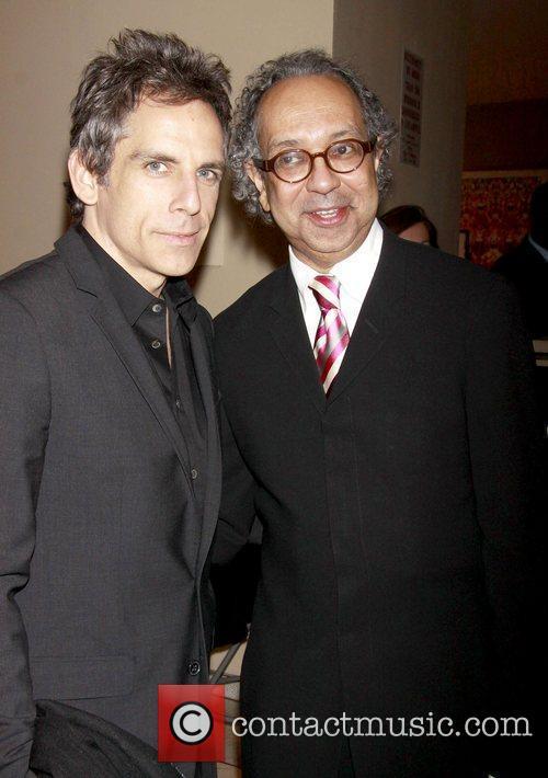 Ben Stiller and George C. Wolfe Opening night...