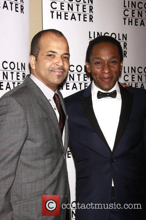 Jeffrey Wright and Mos Opening night after party...
