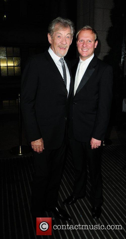 Ian McKellen and Antony Cotton arrive at the...