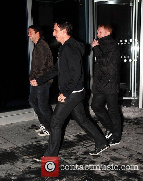 Manchester United football players arrive for their Christmas...