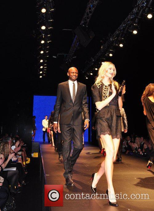 Manchester City players take to the catwalk and...