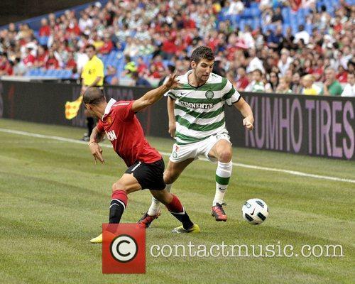 Gabriel Obertan and Patrick McCourt Manchester United vs...