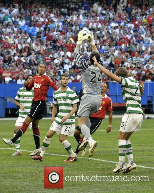 Lukasz Zaluska Manchester United vs Celtic FC pre-season...