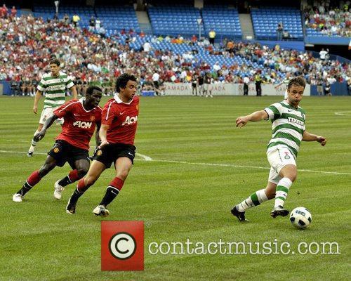 Mame Biram Diouf and Rafael Manchester United vs...