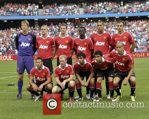 Manchester United team photo Manchester United vs Celtic...