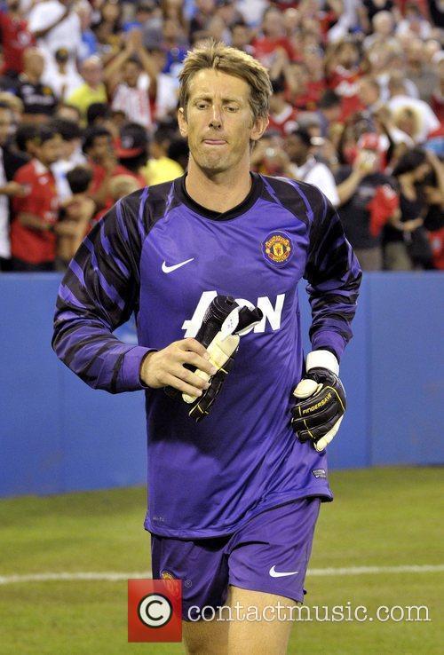 Edwin van der Sar Manchester United vs Celtic...
